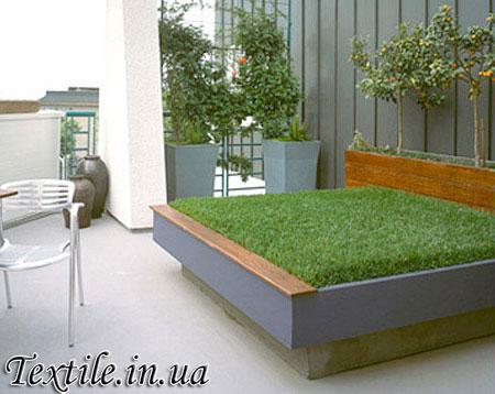 Кровать с травяным покрытием