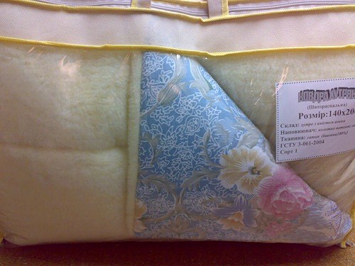 теплое одеяло с цветами
