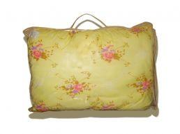 теплое одеяло с  цветами желтое