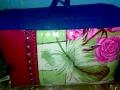 теплое одеяло в цветочек