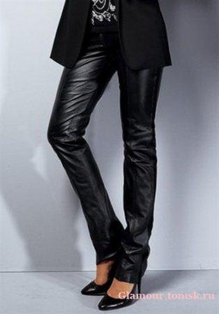 Женские кожаные джинсы – ультрамодный тренд