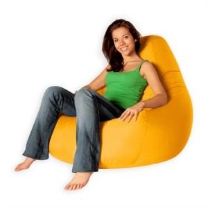 Кресло-груша - самый популярный представитель бескаркасной мебели