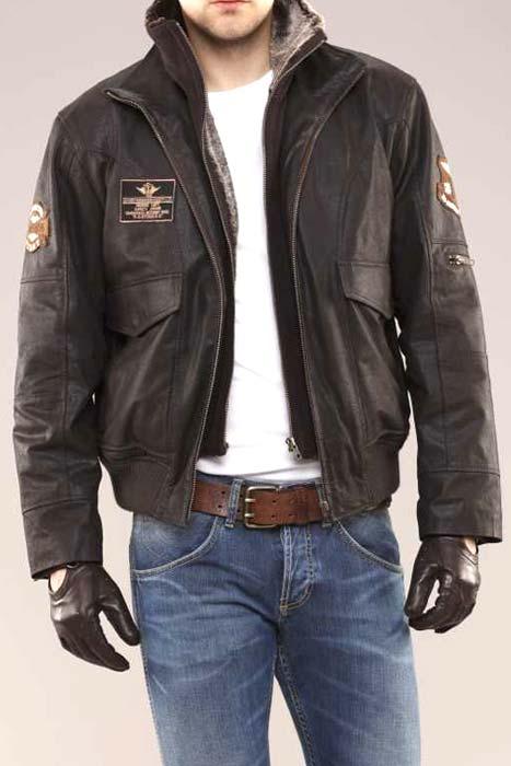 86ea15e8 Rainbowtexon — Купить куртку пилот бомбер - Кожаные мужские...