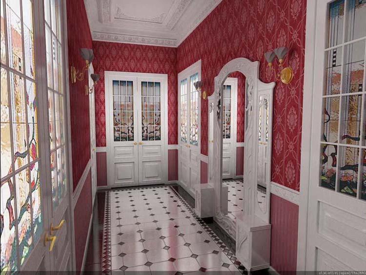 Красный коридор фото