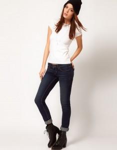 Узкие джинсы как и с чем носить