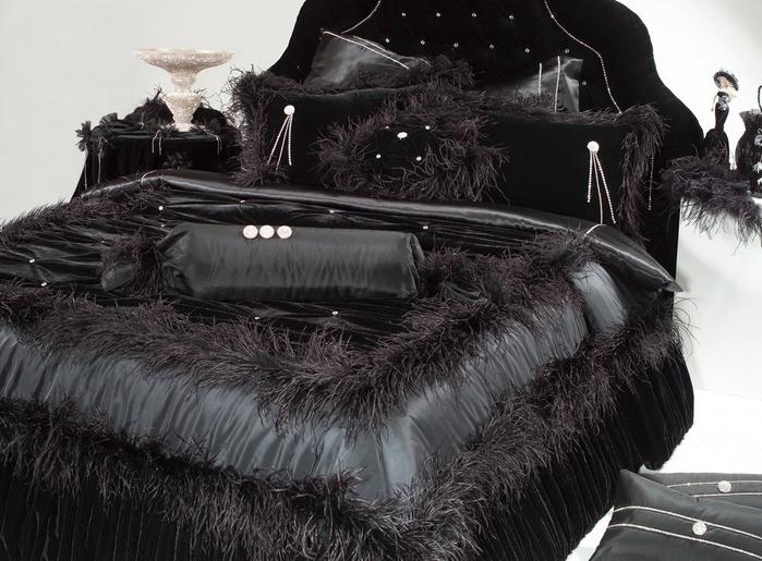 Черное постельное белье в интерьере