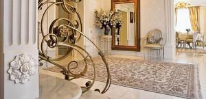Шелковые и шерстяные ковры в оформлении комнаты