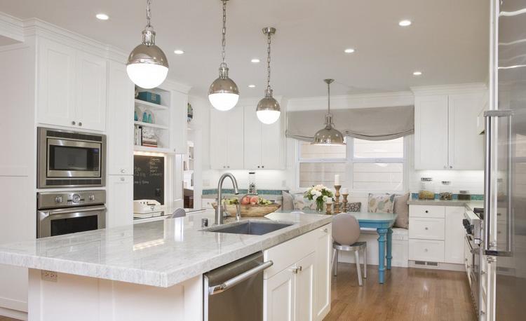 Виды и стили освещения кухни