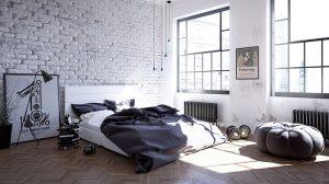 Стиль лофт в интерьере спальни - сочетание уюта и небрежности 2