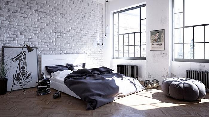 Стиль лофт в интерьере спальни - сочетание уюта и небрежности